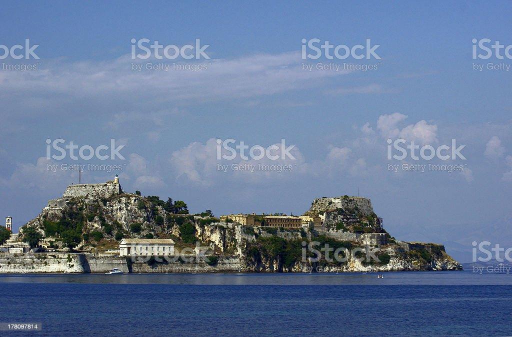 Palaio Frourio in city of Corfu royalty-free stock photo