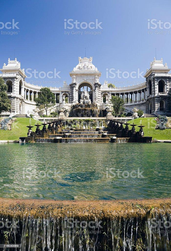 Palais and Parc Longchamp, Marseilles stock photo