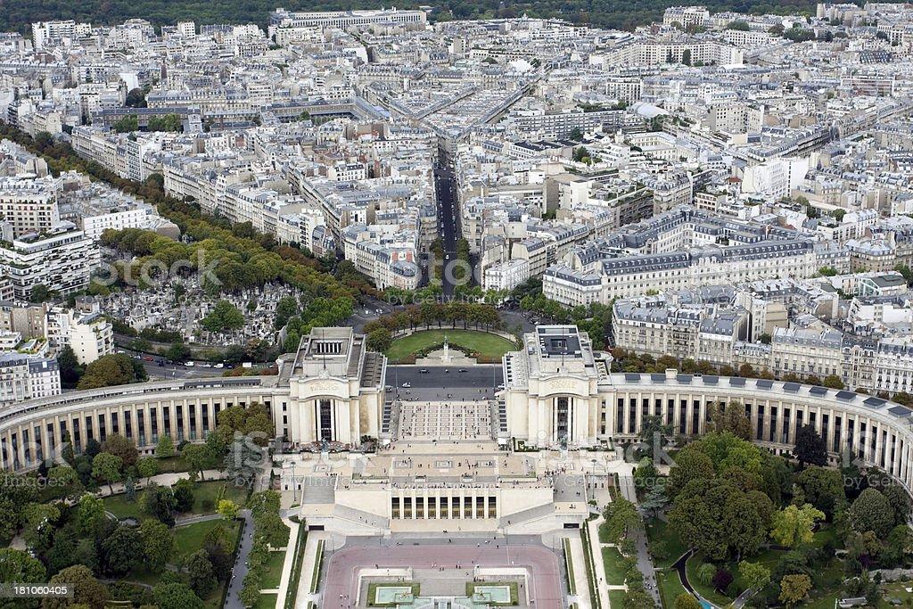 Palais de Chaillot royalty-free stock photo