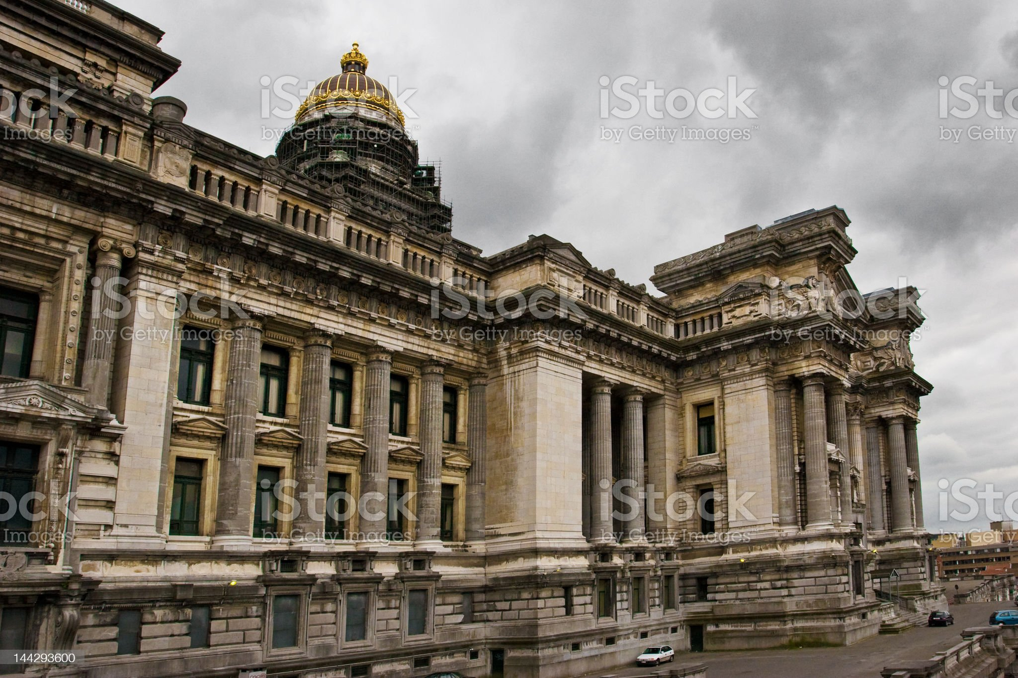 Palais de Justice Brussels royalty-free stock photo