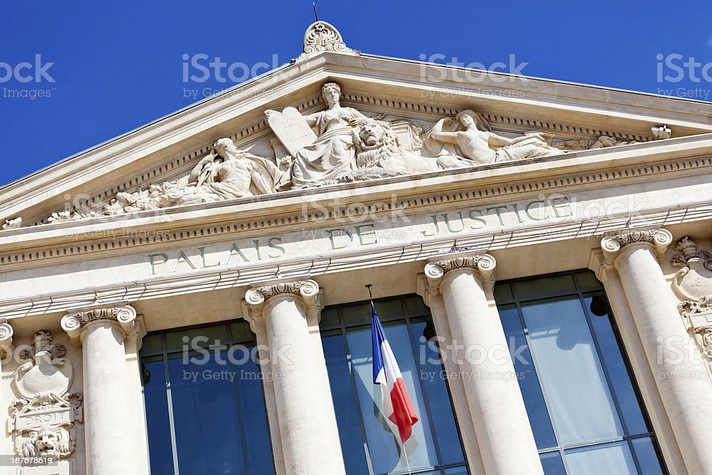 Palais de Justice Court in Nice stock photo