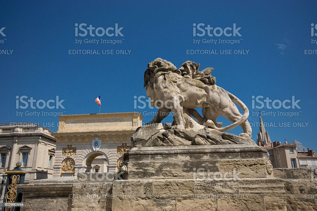 Palais de Justice Montpellier stock photo