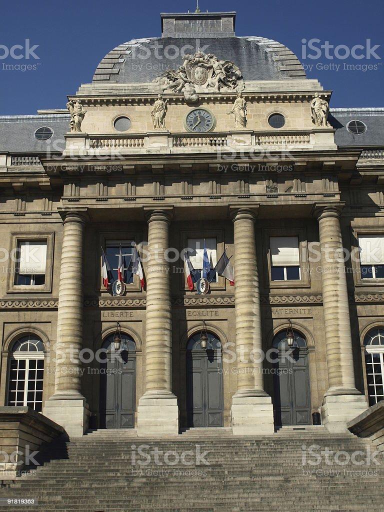 Palais de Justice royalty-free stock photo