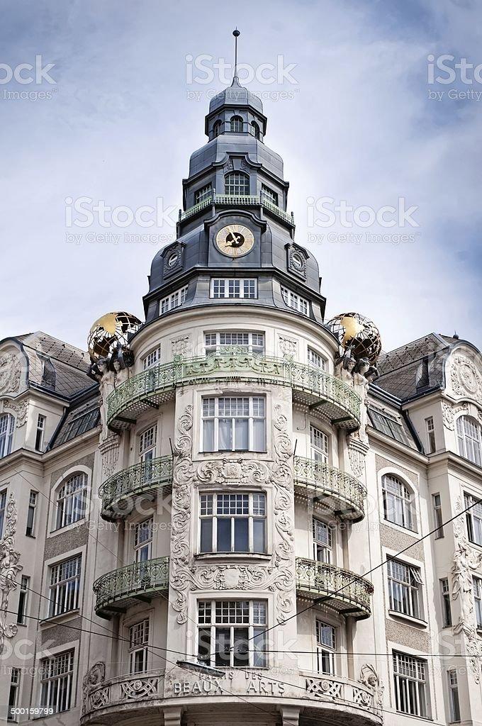 Palais des beaux arts in Vienna stock photo