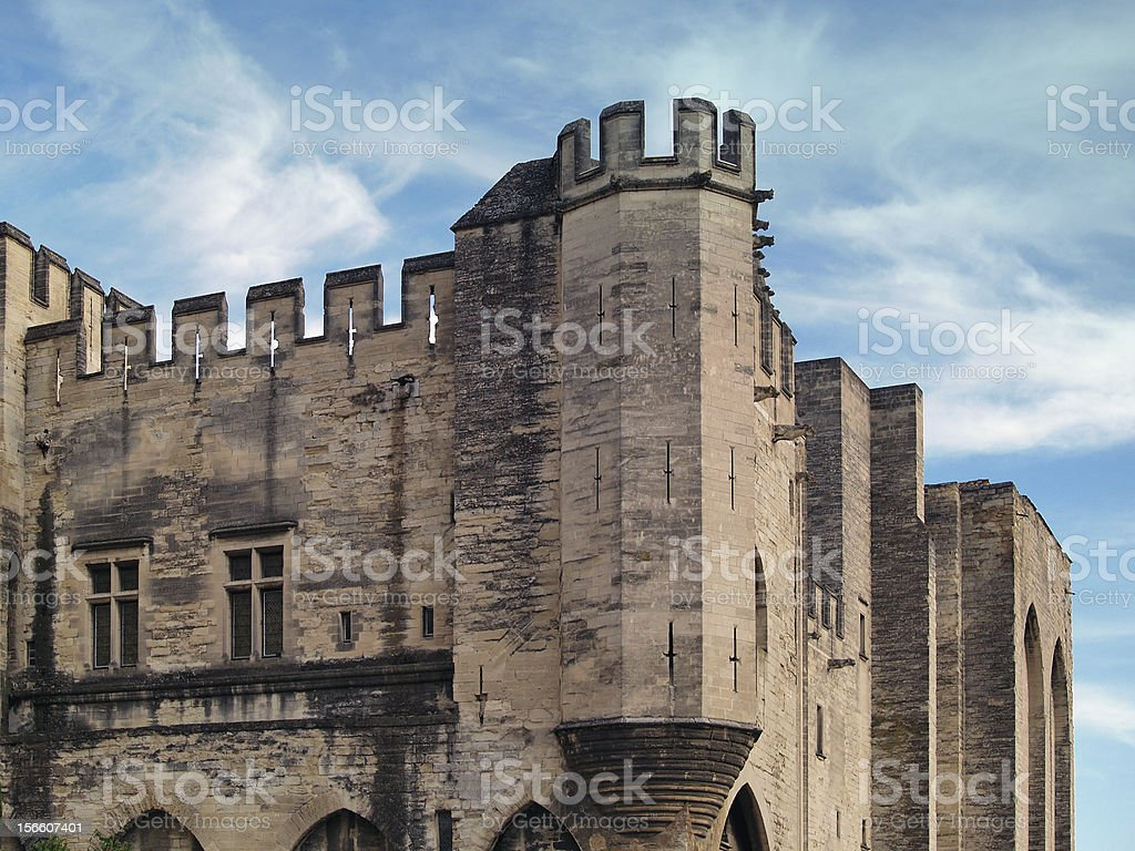 Palais des Papes, Avignon, France royalty-free stock photo