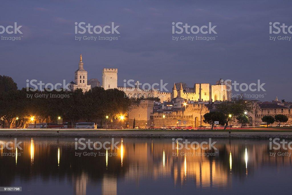 Palais des Papes, Avignon, Provence stock photo