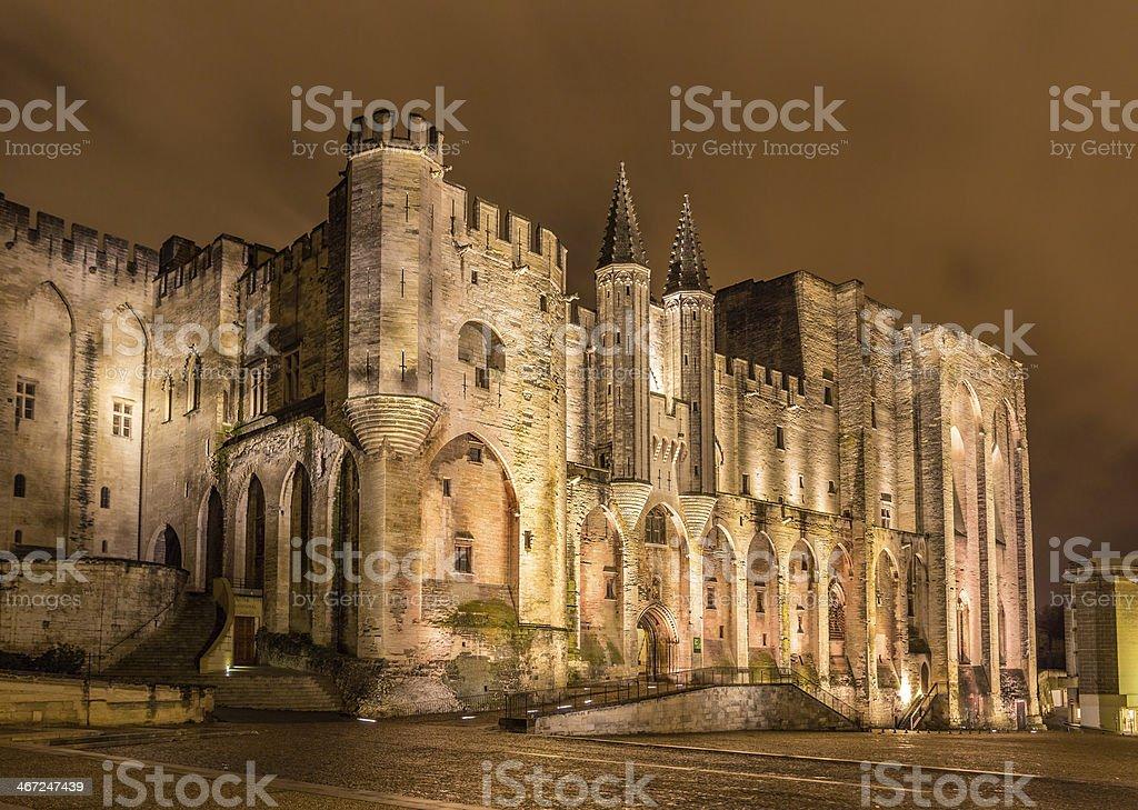 Palais des Papes in Avignon, a UNESCO heritage site, France stock photo