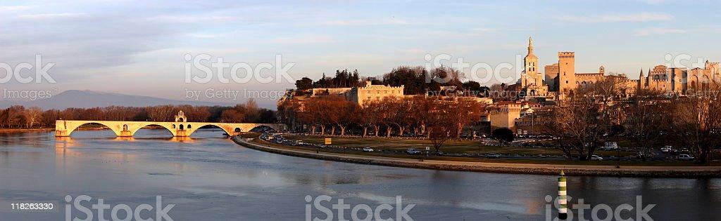 Palais des Papes in Avignon royalty-free stock photo