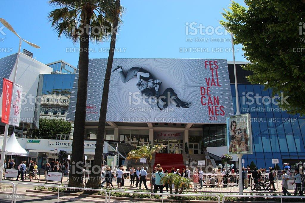 Palais du Festival de Cannes 2013 stock photo