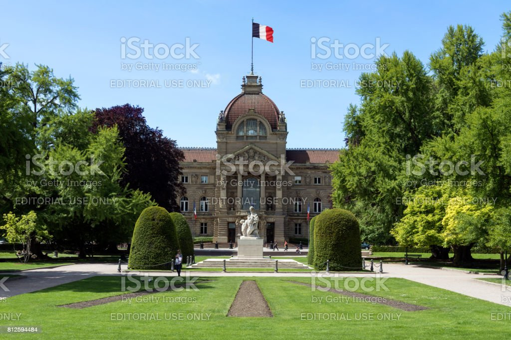 Palais du Rhin (Palace of the Rhine) in the city of Strasbourg - Alsace region of France stock photo