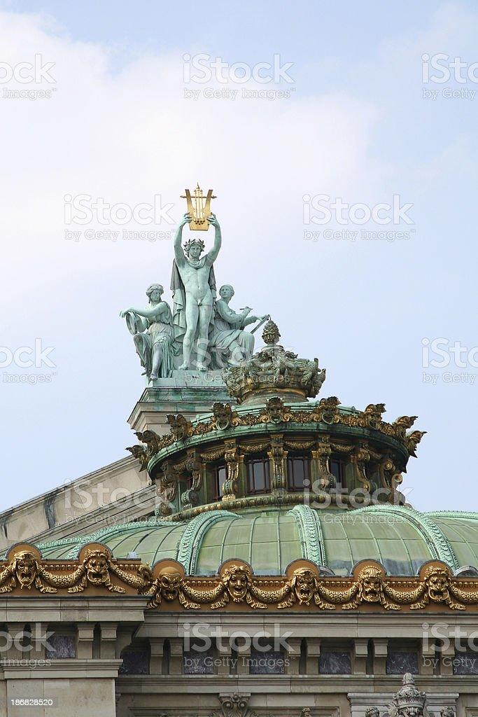 Palais Garnier, Apollo, Poetry and Music stock photo