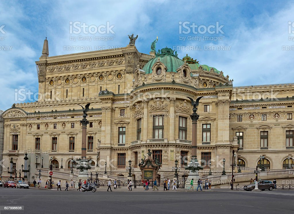 Palais Garnier opera house in Paris, France stock photo
