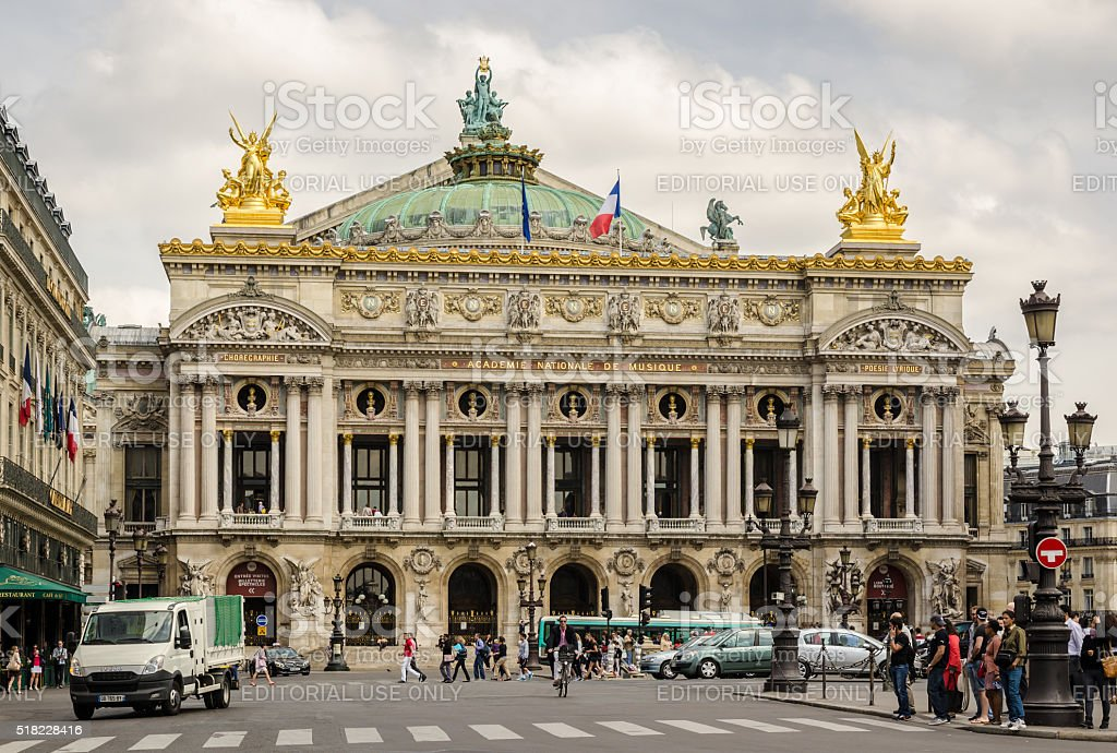 Palais Garnier Opera House in Paris stock photo
