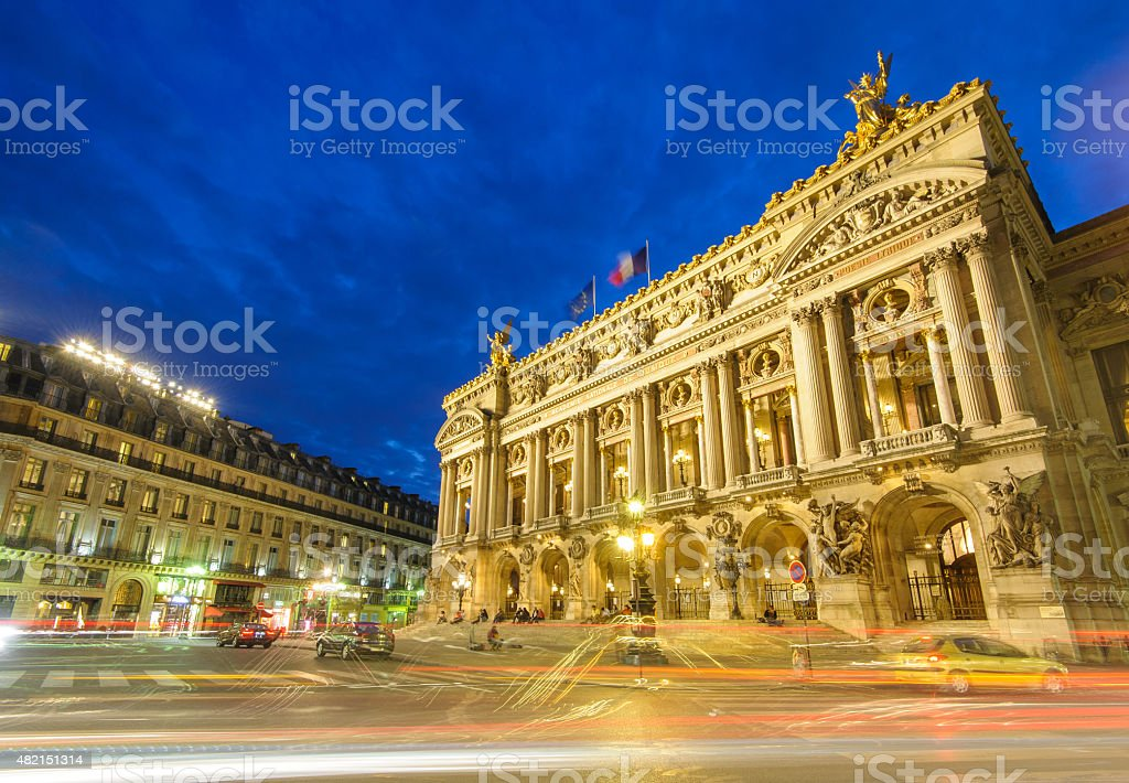 Palais Garnier, Opera in Paris stock photo