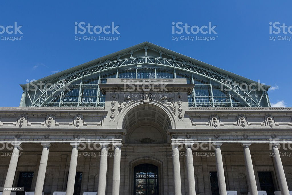 Palais Mondial Brussels stock photo
