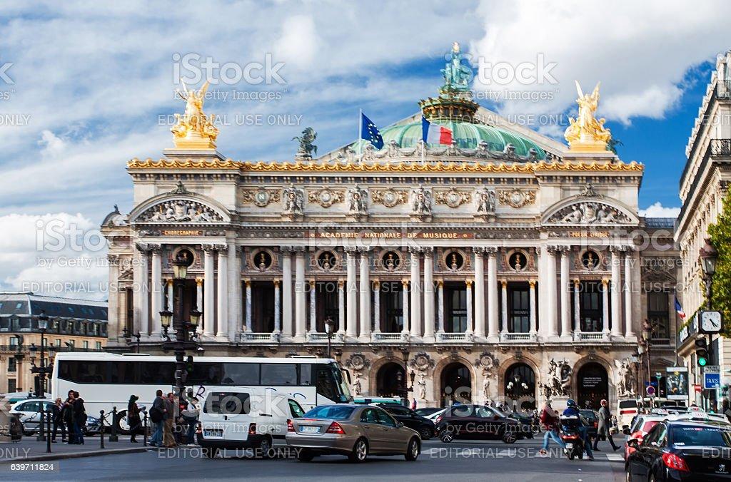 Palais Opera Garnier in Paris, France stock photo