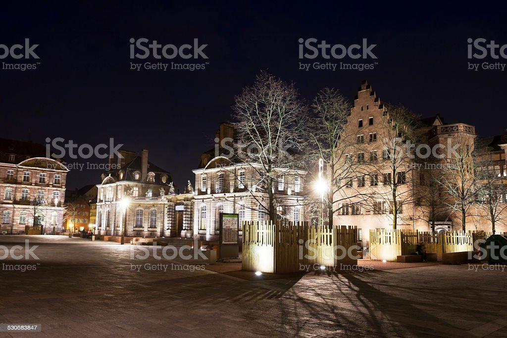 Palais Rohan and Mus?e de l'?uvre Notre-Dame in Strasbourg stock photo