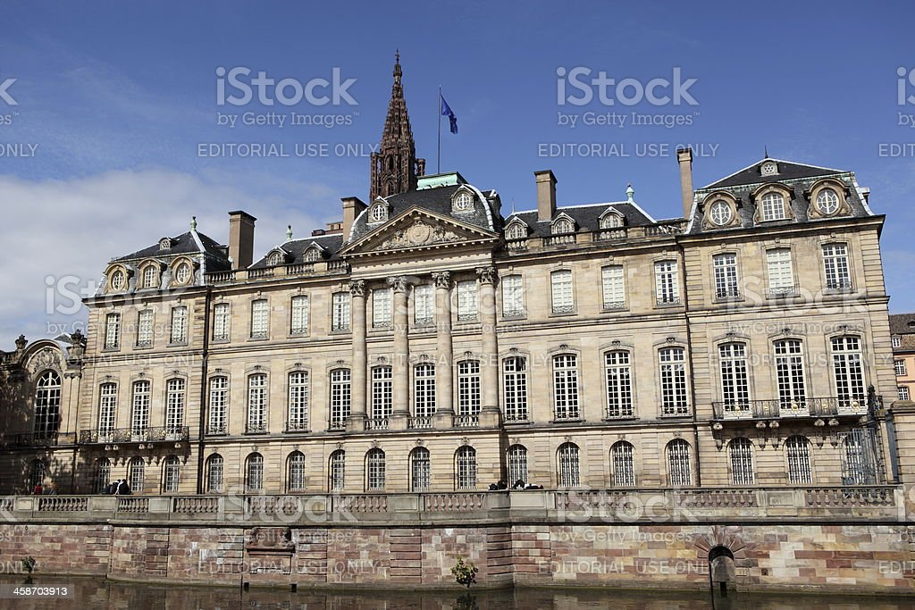 Palais Rohan in Strasbourg, France stock photo