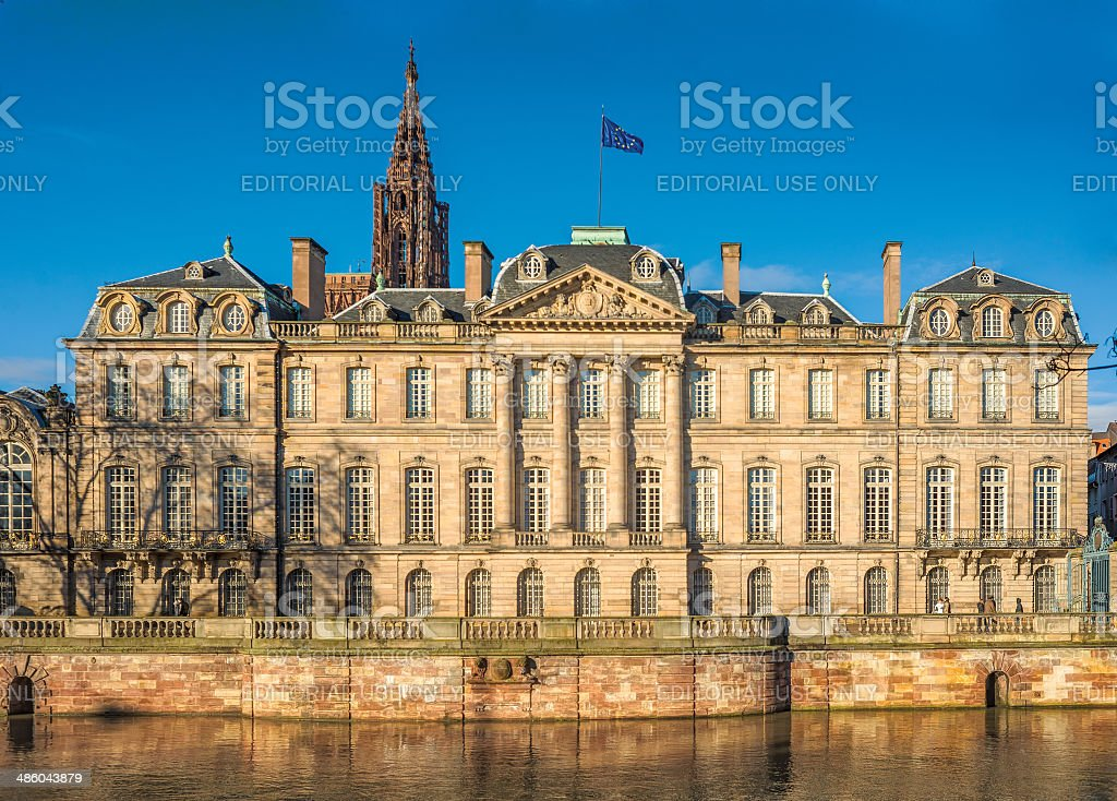 Palais Rohan, Strasbourg, France stock photo