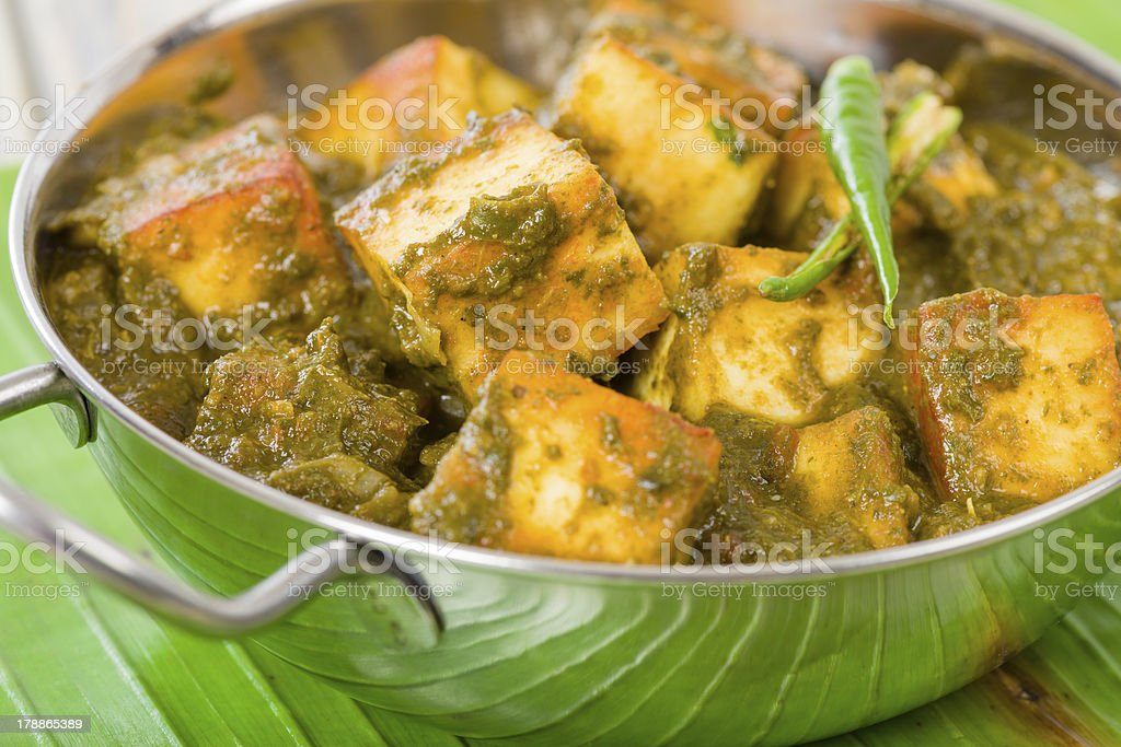 Palak Paneer royalty-free stock photo