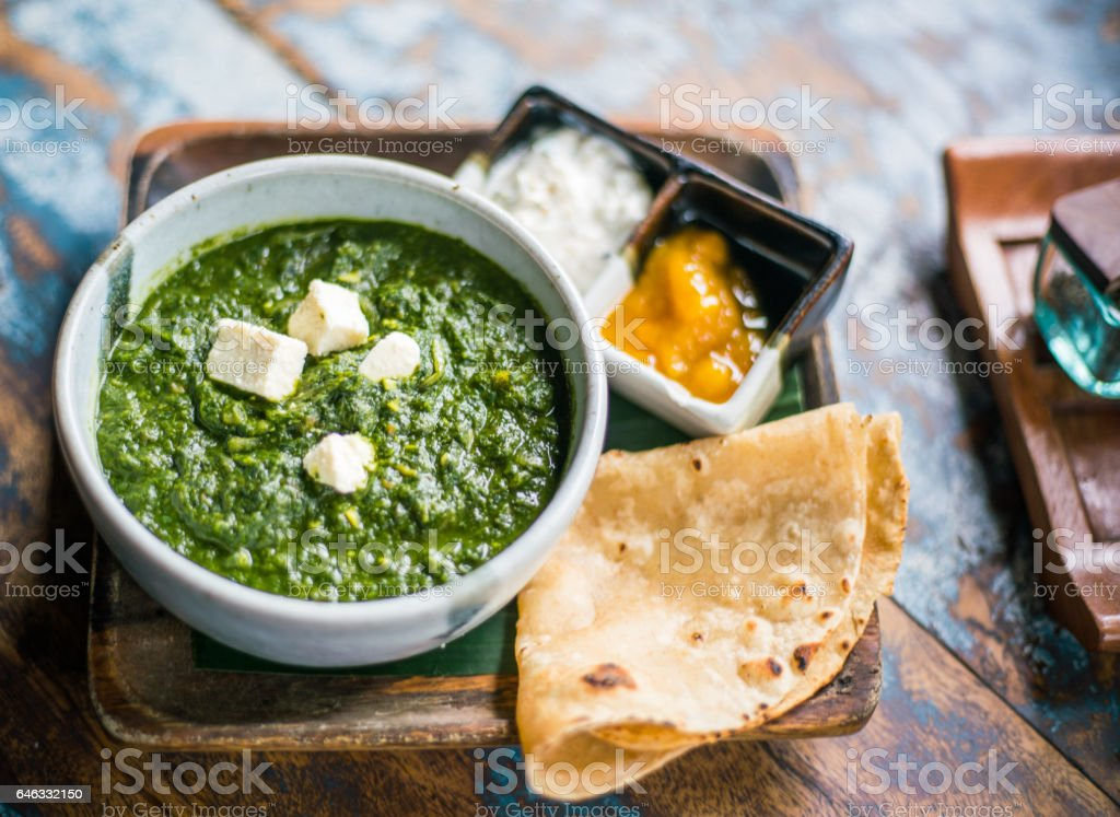 Palak paneer stock photo