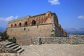 Palamidi Fortress in Nafplion, Argolis Peloponnese, Greece