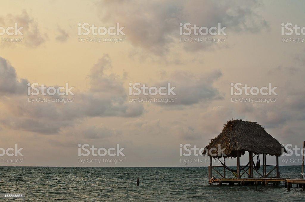 Palapa hut royalty-free stock photo