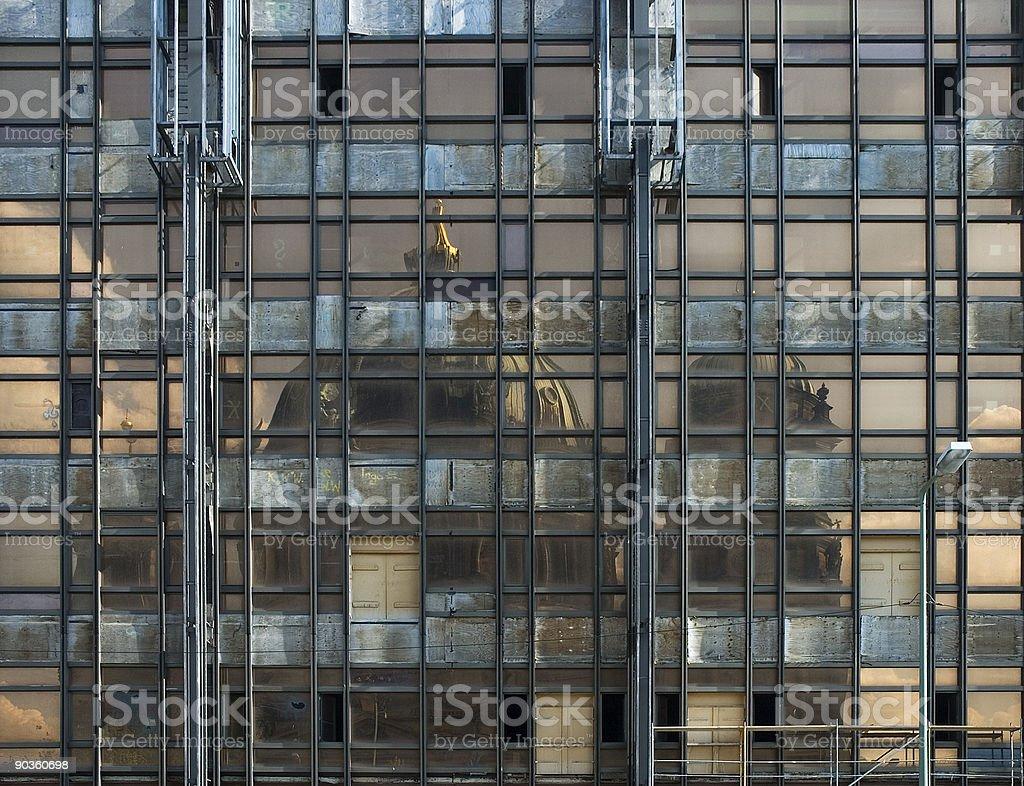 'Palast der Republik' reflecting'Berliner Dom', Berlin, Germany royalty-free stock photo