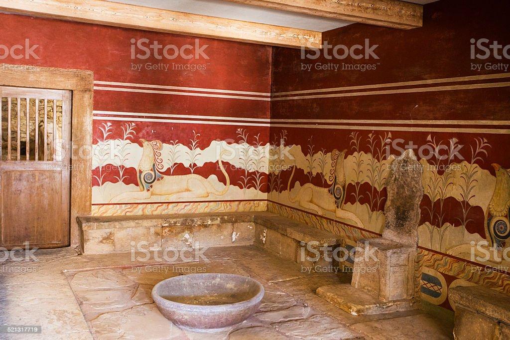 Palast von Knossos stock photo