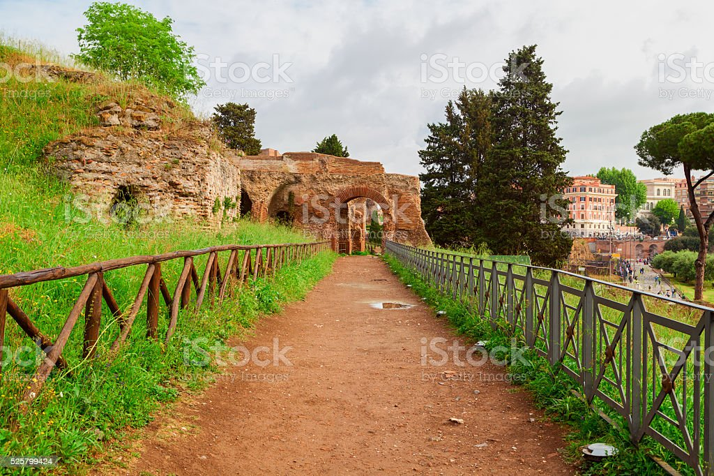 palatine alley view stock photo