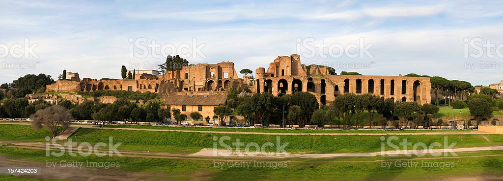 Palatine hill and the Roman forum (XXXL) stock photo