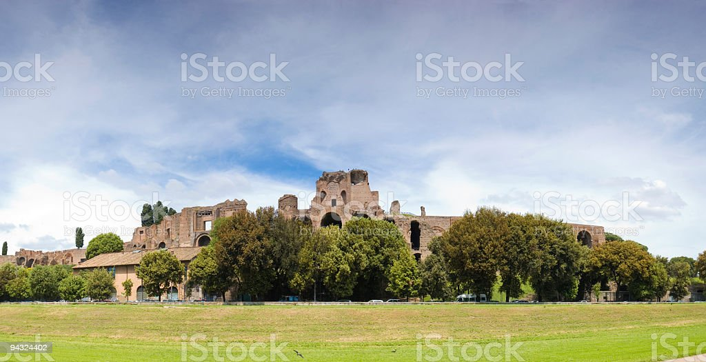 Palatine Hill, Circus Maximus, Rome stock photo