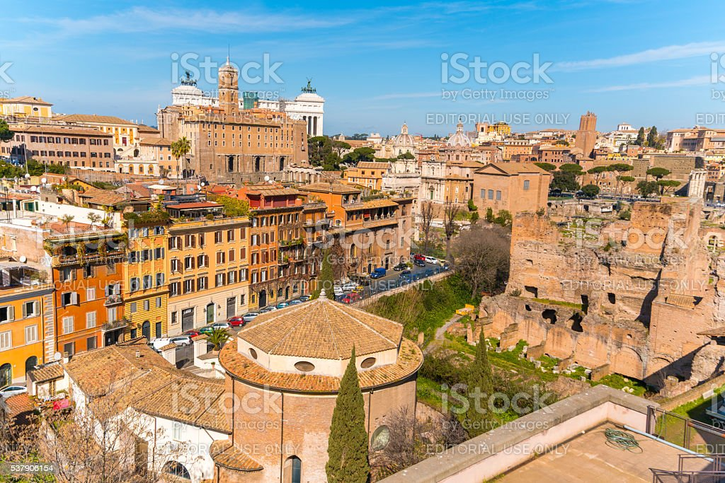 Palatine Hill in Rome, Italy stock photo