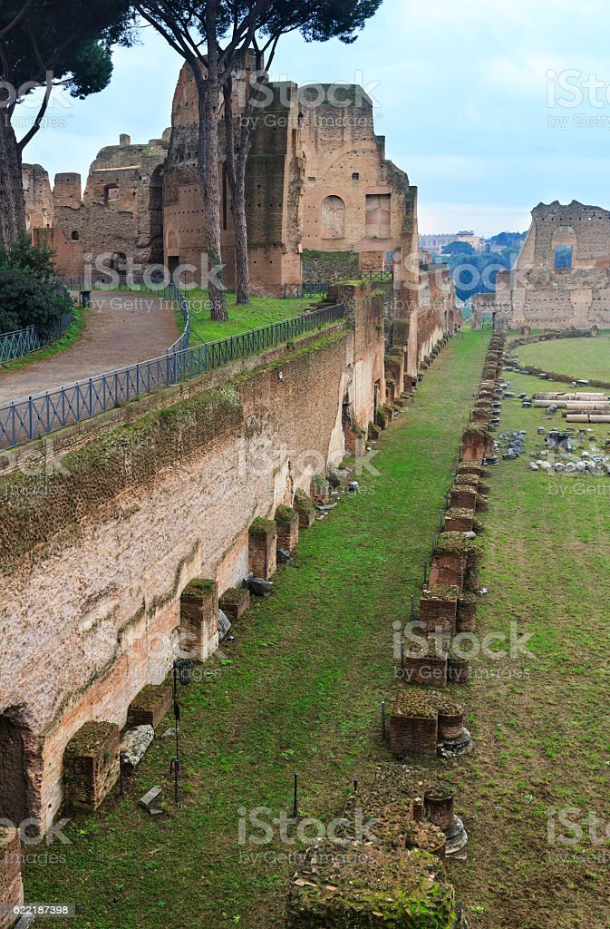 Palatine Hill in Rome, Italy. stock photo