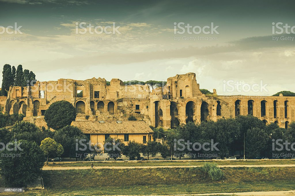 Palatine hill, Rome stock photo