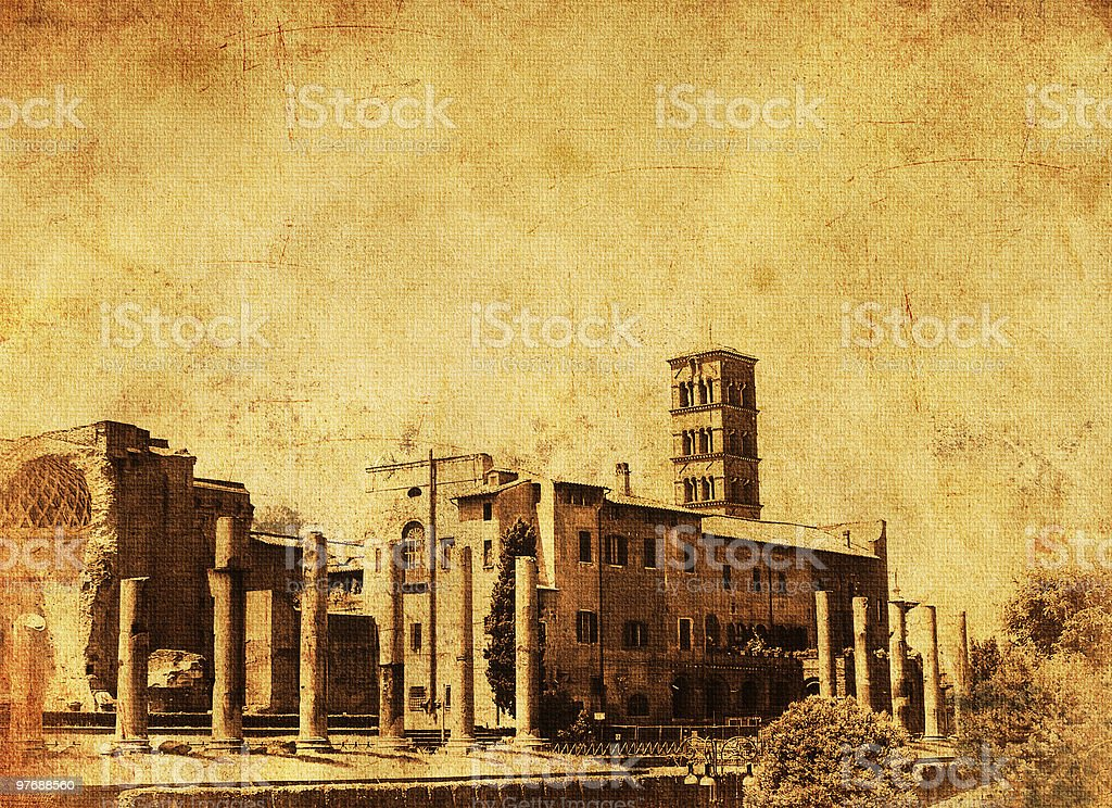 Palatine Hill - Vintage photo of Roma royalty-free stock photo