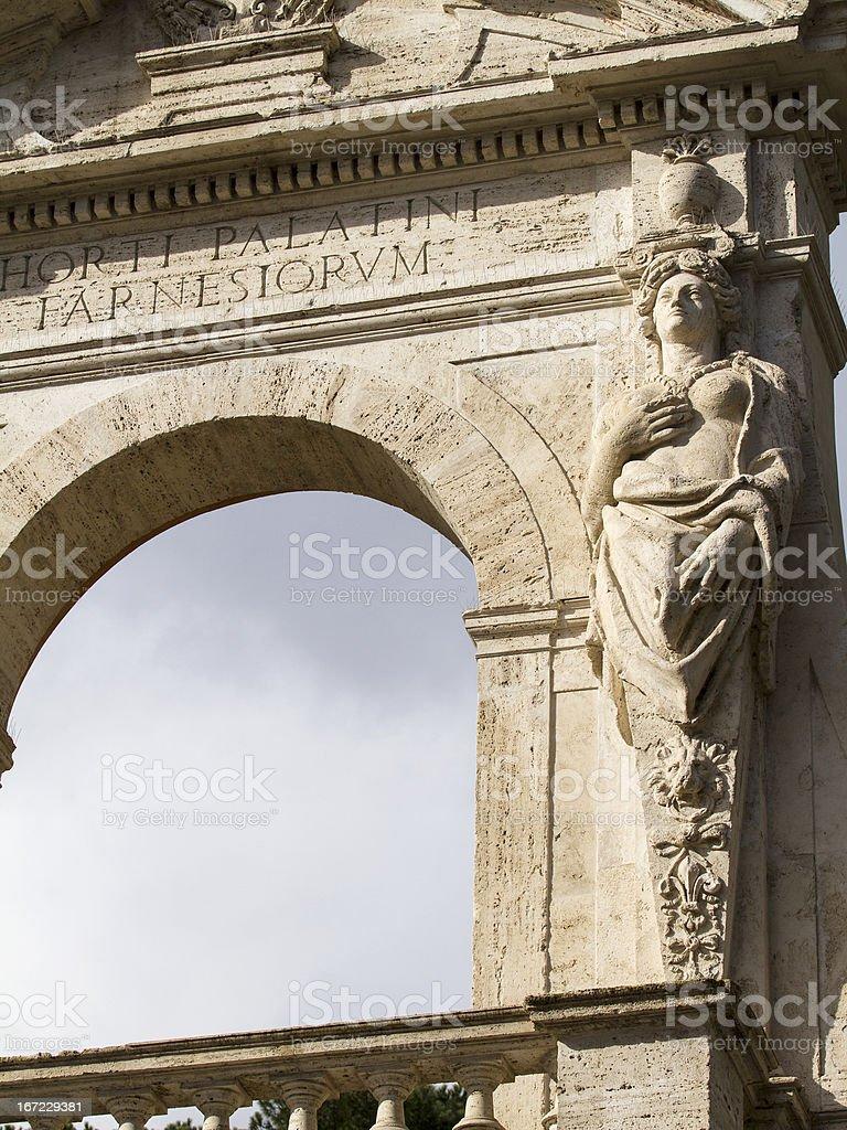 Palatino Entrance stock photo