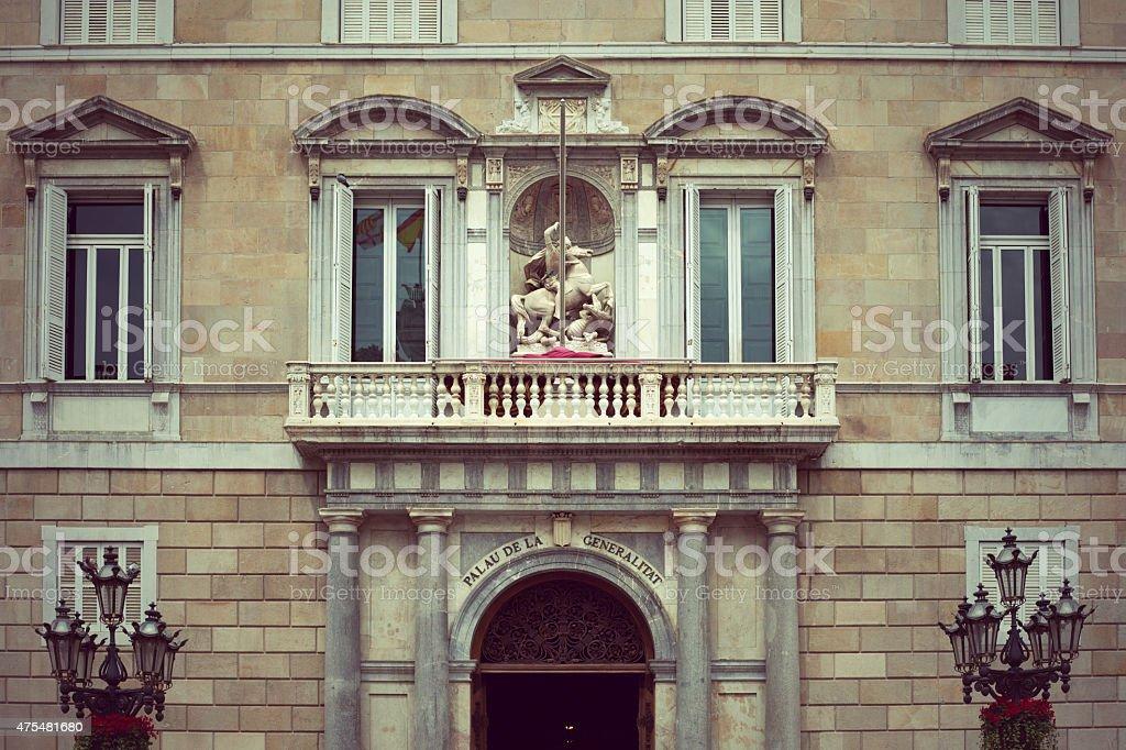 Palau de la Generalitat in Barcelona stock photo