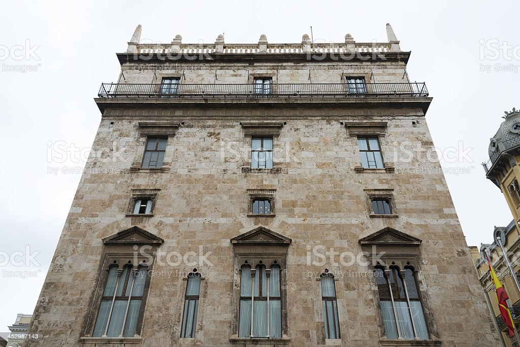 Palau de la Generalitat, Valencia stock photo