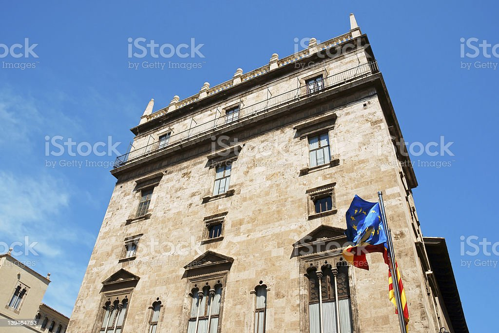 Palau de la Generalitat Valenciana stock photo