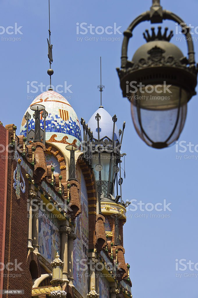 Palau de la Musica Catalana stock photo