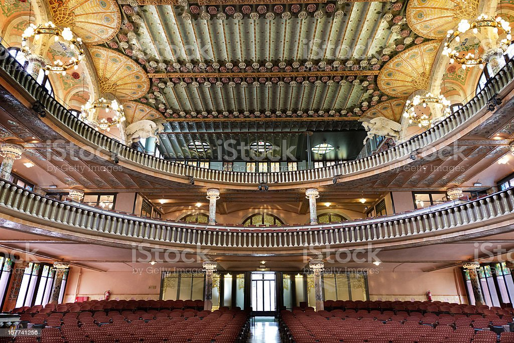 Palau de la Musica in Barcelona stock photo