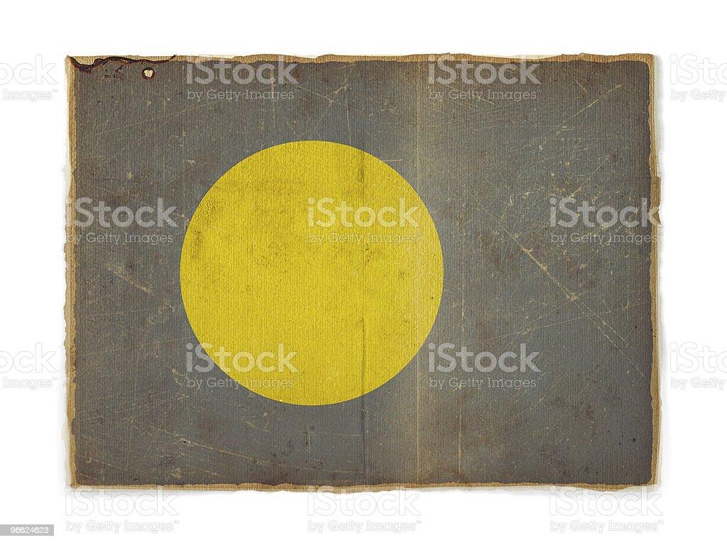 Palau grunge flag stock photo