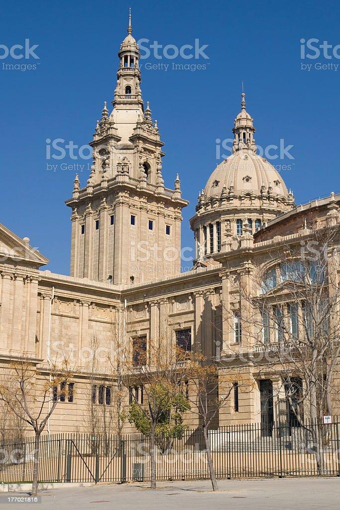 Palau Nacional de Montjuic stock photo