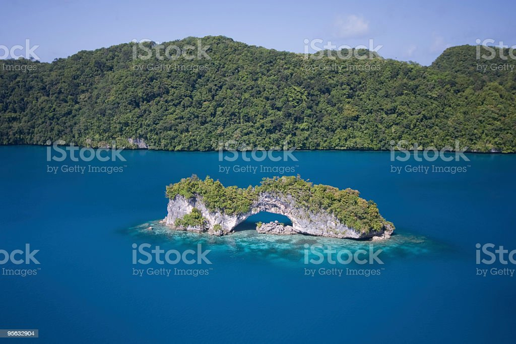 Palau - Natural Arch stock photo