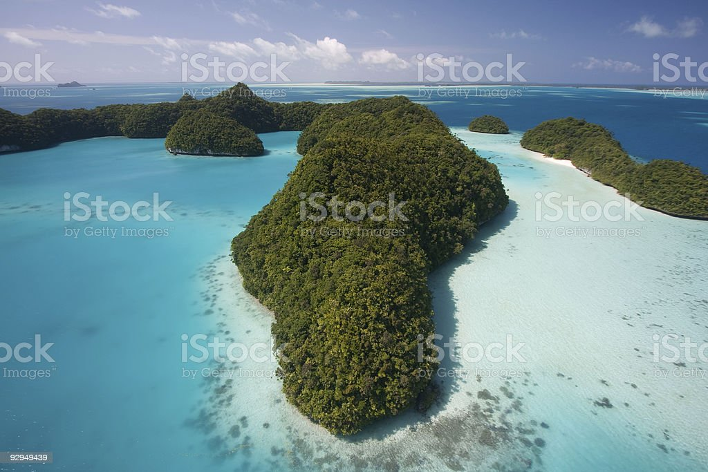 Palau - Rock Islands stock photo