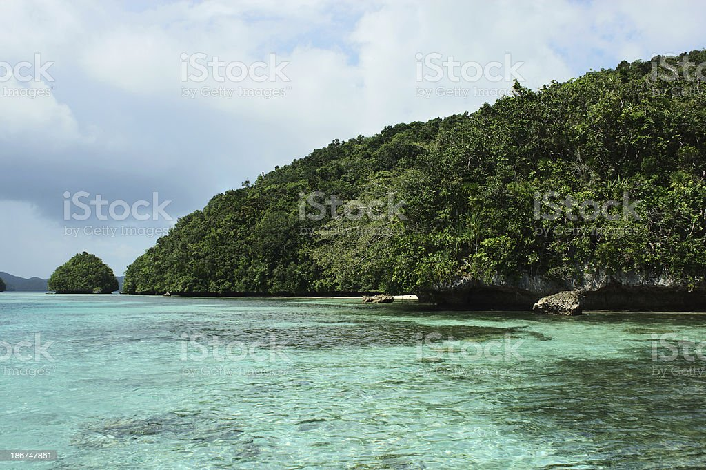 Palau's island and sea stock photo
