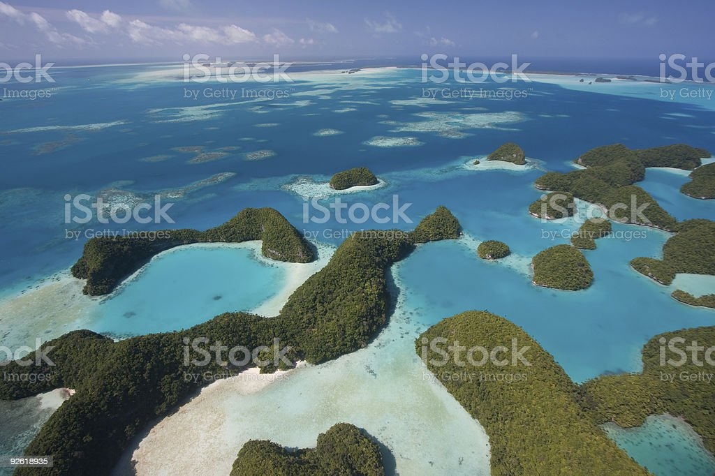 Palau's Rock Islands stock photo