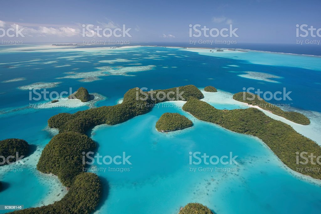 Palau's Rock Islands royalty-free stock photo