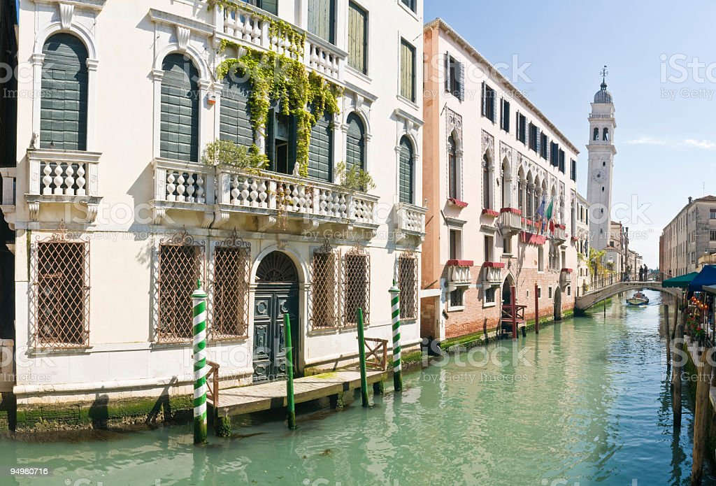 Palazzo and canals Venice royalty-free stock photo
